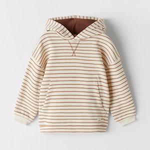 Zara hooded striped sweatshirt